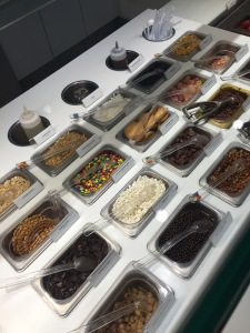 Some of the various toppings offered.
